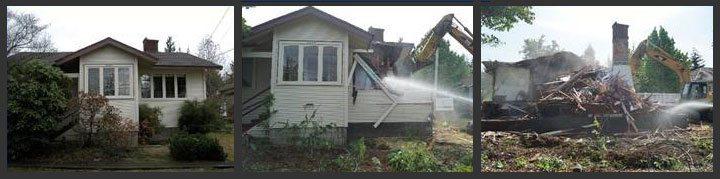 Demolition in Houghton