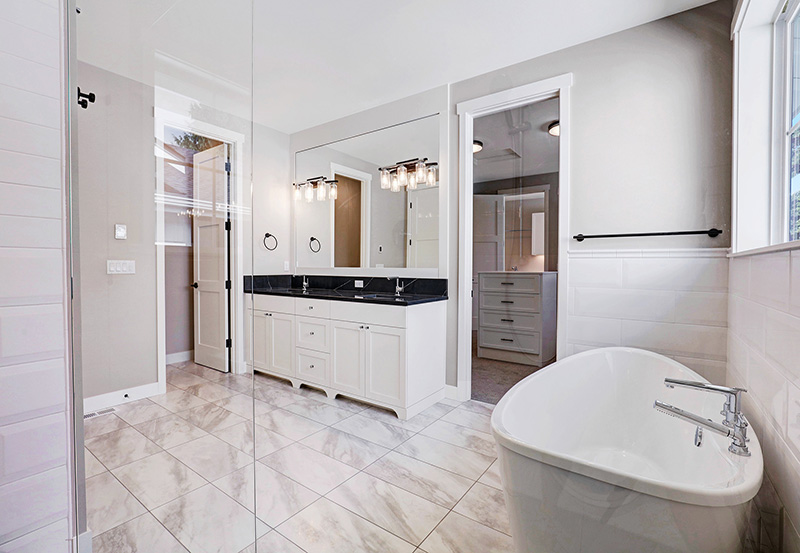 Master Bathroom Vanity & Bath
