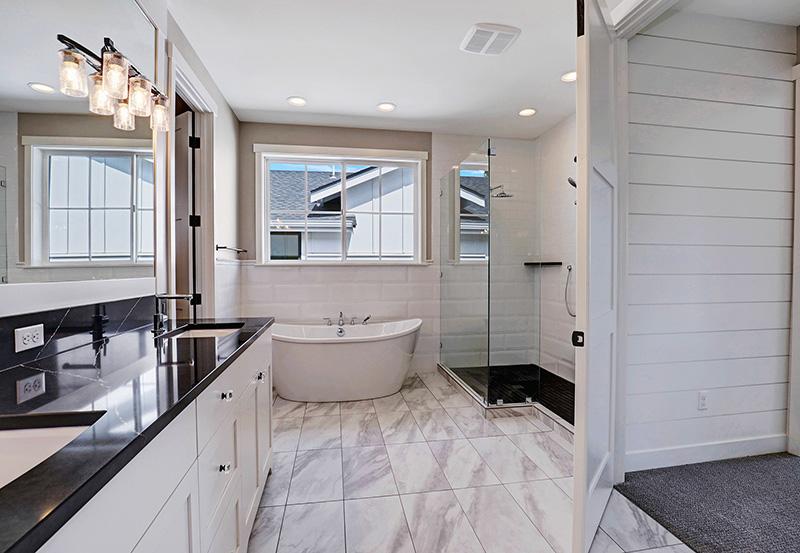 Master Bathroom Vanity, Shower & Bath