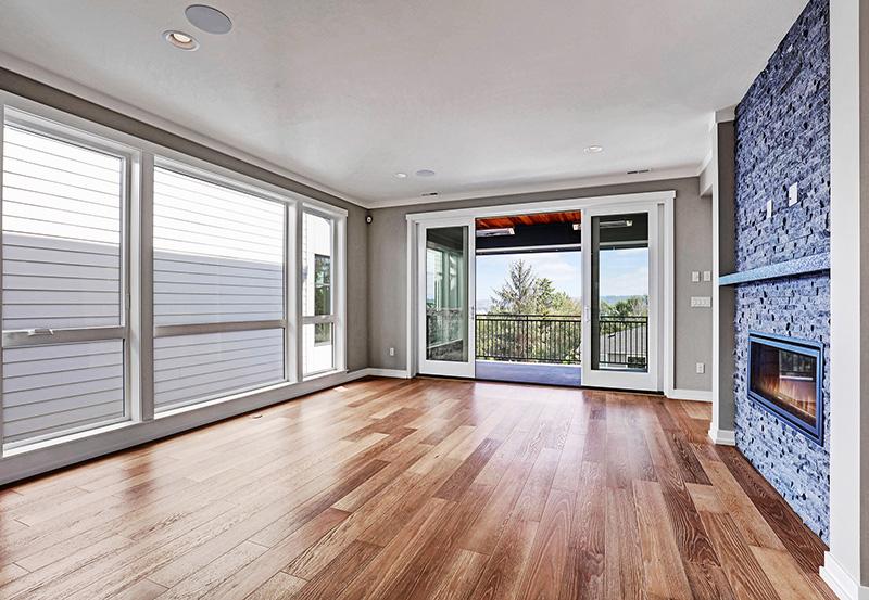 Great Room with Hardwood Floors