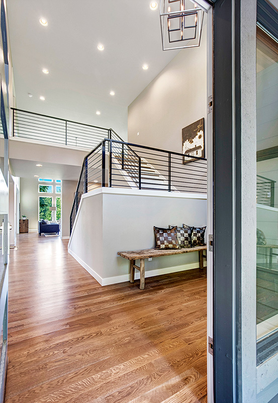 bellevue home entry with staircase