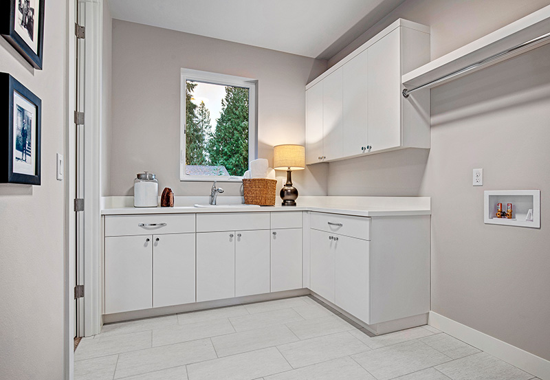 Upton I Laundry Room with cabinets