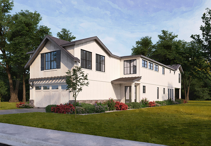 Rendering of home in Kirkland